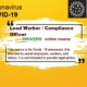 COVID-19 Lead Worker / Compliance Officer
