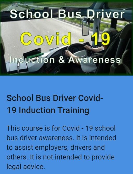 School Bus Driver COVID-19